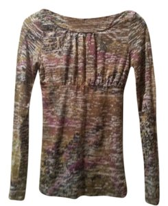 Free People Green Tunic Paint Splatter T Shirt Olive Geen