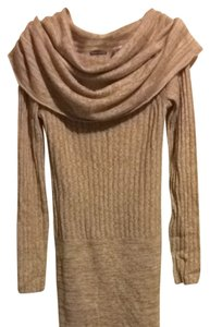 Moda International short dress Beige, tan Cowl Sweater Leggings on Tradesy