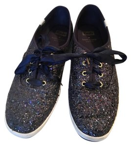 Kate Spade Keds Glitter Navy Athletic