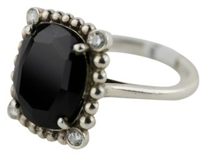 Tiffany & Co. * TIFFANY AND CO ZIEGFELD COLLECTION BLACK SPINEL AND DIAMOND RING