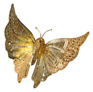 Other Butterfly Filigree Pin - Movable Wings - Wear on Shoulder or chain