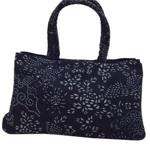 Lizhuang Tote in Dark Blue And White