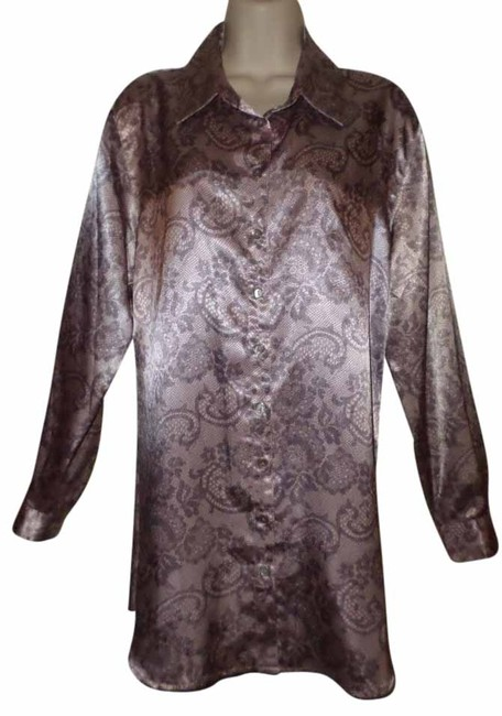 Preload https://item3.tradesy.com/images/soft-surroundings-gray-lacey-paisley-print-button-down-blouse-tunic-size-12-l-10263892-0-2.jpg?width=400&height=650