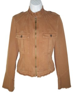 Joie Cotton Cropped Distressed Jacket