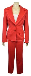 Escada ESCADA RED WOOL BLEND 3PC PANT AND SKIRT SUIT SIZE L ON SALE NH