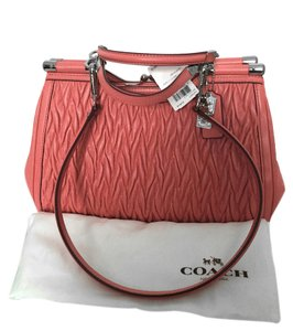 Coach Leather Madison Satchel in Tearose