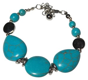 Other Turquoise Stone Silver Tone Bracelet Handmade New Jewelry J1762 Summersale