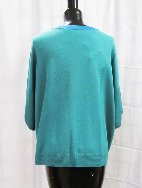 St. John New Verde Multi Zip Milano Knit Dolman Cardigan Size M Color-Block Jacket