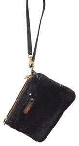 Michael Kors Clutch Sequin Clutch Leather Wristlet in Black