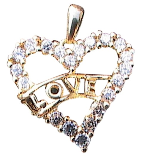Preload https://item5.tradesy.com/images/sterling-silver-gold-washed-cz-heart-love-pendant-178-10264834-0-1.jpg?width=440&height=440