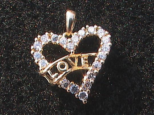 Other Sterling Silver Gold Washed Heart
