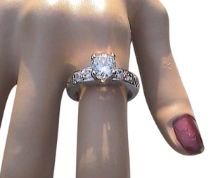 14k White Gold Filled Lab-Created White Topaz Engagement Ring