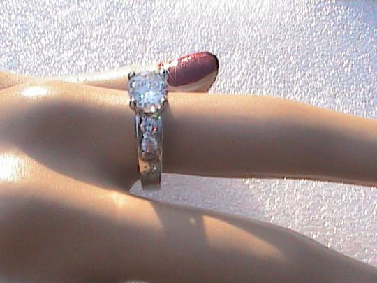 Other 14k White Gold Filled Lab-Created White Topaz Engagement Ring
