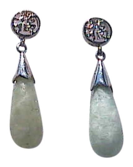 Preload https://img-static.tradesy.com/item/10265092/sterling-silver-jade-vintage-good-luck-jadeite-earrings-0-1-540-540.jpg
