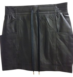 Marc by Marc Jacobs Leather Black Size 2 Mini Skirt Black Leather