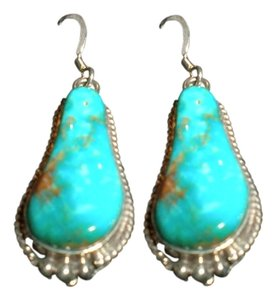 NATIVE AMERICAN NAVAJO NATIVE AMERICAN INDIAN TURQUOISE EARRING