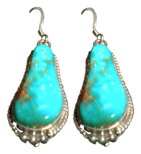 Preload https://item4.tradesy.com/images/turquoise-and-sterling-silver-indian-earring-1026548-0-0.jpg?width=440&height=440