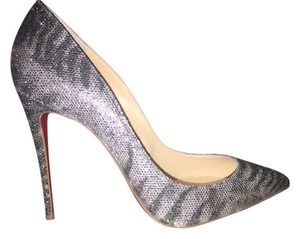 Christian Louboutin Pigalle Silver Follies Pumps