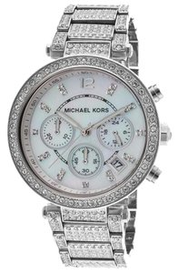 Michael Kors Michael Kors Parker MK5572 Stainless Pave Crystal Chronograph Watch