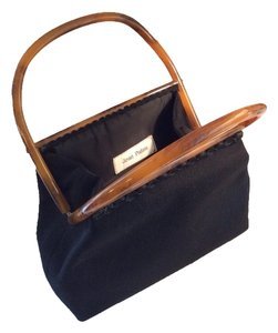 Jean Patou Satchel in Black/Tortoise