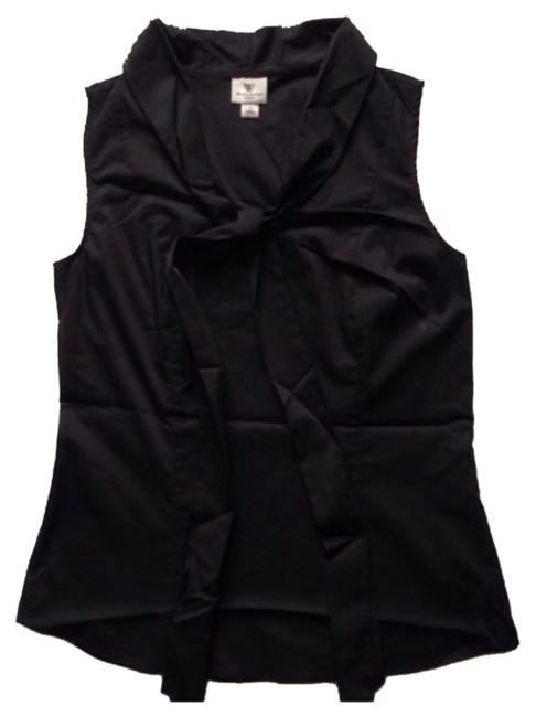Worthington Sleeveless Scarf Top Black