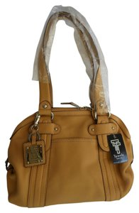 Tignanello Leather Shoulder Satchel in Brown
