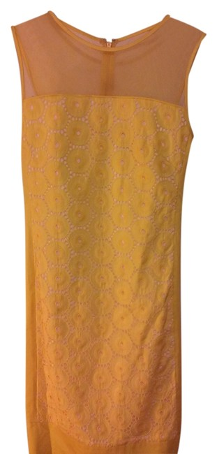 Preload https://img-static.tradesy.com/item/10270213/adrianna-papell-yellow-above-knee-workoffice-dress-size-12-l-0-1-650-650.jpg
