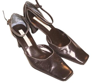 Maripé Gently Used Slingback Ankle Strap Brown Dress Mother's Day Gift Dark Brown Formal