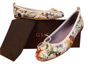Gucci White/Multi Color Flats