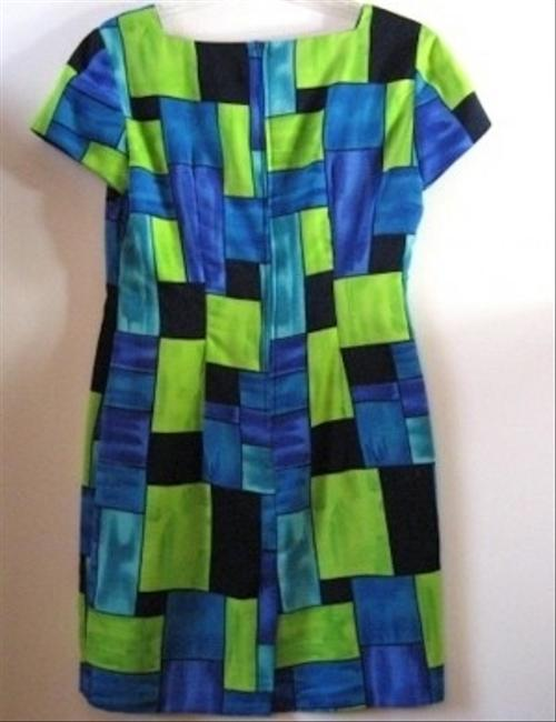 Jessica Howard short dress Multi Color Color-blocking Petite Cap Sleeves on Tradesy