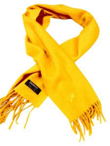 Burberry Burberry 100% Lambswool Yellow scarf