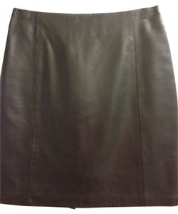 North Beach Leather Lamb Size 4 Black Skirt Black Leather