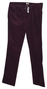 J.Crew Straight Pants Dusty port (reddish/purple)