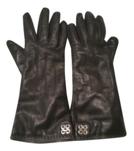 Coach Coach black leather gloves