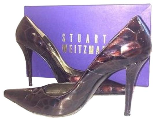 Preload https://item2.tradesy.com/images/stuart-weitzman-brown-crocodile-alligator-fever-patent-leather-pumps-size-us-75-regular-m-b-10271656-0-3.jpg?width=440&height=440