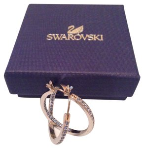 Swarovski Swaroski Hoop Earrings
