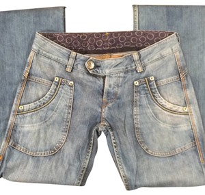 Replay Low Waist Light Wash Hippie Boot Cut Jeans