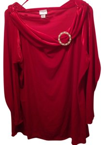 Jaclyn Smith Top Red