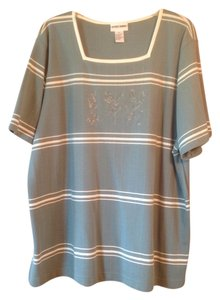 Alfred Dunner Womens Plus Size 2x T Shirt Multicolor