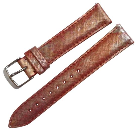 Michele MICHELE 18mm Coral Leather Watch Band Strap MS18AA430995