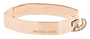 Michael Kors Michael Kors MKJ4658791 Square Hinge Logo Rose Gold Bangle Bracelet