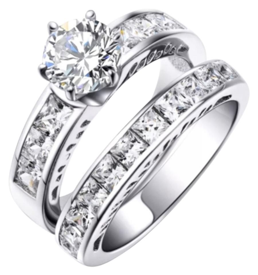 Private Collection 2pc Engagement Wedding Ring Set 3tcw Image 0: 2 Pc Wedding Ring Sets At Reisefeber.org