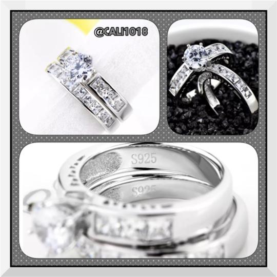 Private Collection 2pc Engagement Wedding Ring Set 3TCW