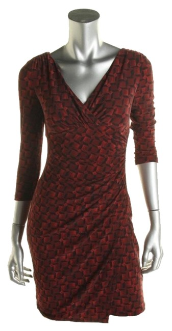 Preload https://item5.tradesy.com/images/ralph-lauren-red-and-black-graphic-print-knee-length-workoffice-dress-size-petite-4-s-10273264-0-1.jpg?width=400&height=650