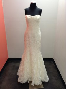 Enzoani Ivory Organza & Lace Elim Casual Wedding Dress Size 10 (M)