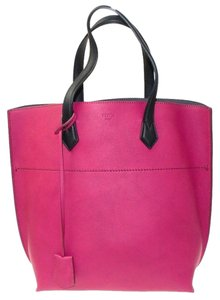 Fendi Shopping All In Leather Tote Pink Travel Bag