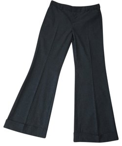Vince Stretch Wool Wide Leg Trouser Pants Charcoal Gray
