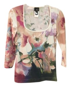 Just Cavalli T Shirt Pink green white