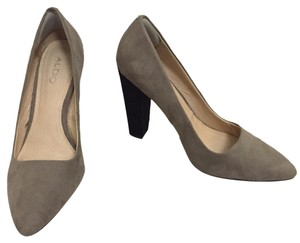 ALDO Suede Chunky Leather Heel Nude & Black Platforms
