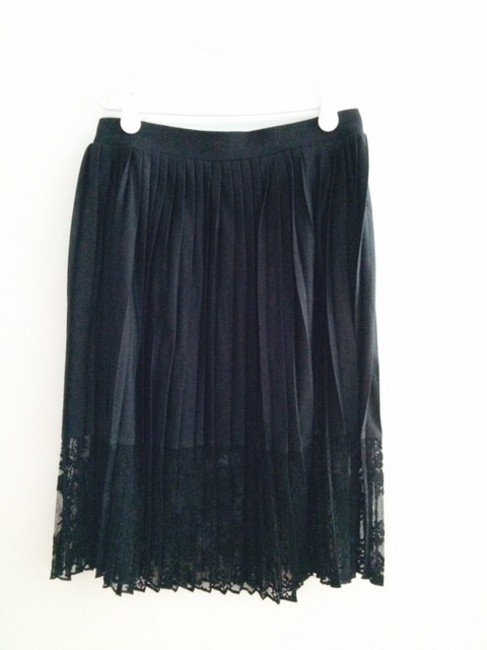 French Connection Lace Skirt Black